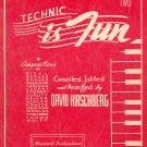 Technic Is Fun Book Two Vintage 1943 David Hirschberg