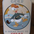 Disney A Great Way To Relax Golf Donald Duck Plaque In Box 045544067676  4004859