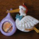 Hallmark Keepsake Ornament Baby's First Christmas Stork Photo Holder  2000 With Box