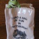 Souvenir Pittsburgh Frog In Bag How Cute