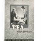 Tea Goes American Recipe / Cookbook By Tetley Vintage 1939