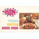 Prize Winning Recipes Starring Potato Chips Cookbook Schuler's Foods Vintage
