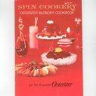 Vintage Spin Cookery Osterizer Blender Cookbook 1969  8 Speed Osterizer