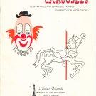 Clowns And Carousels Needlework Graphics Vintage 1979 Virginia Creekman Tidewater Originals