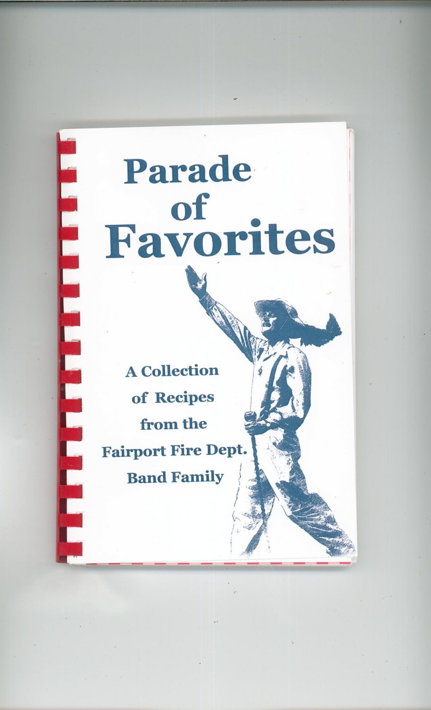Parade Of Favorites Cookbook Regional Fairport Fire Dept. Band Family