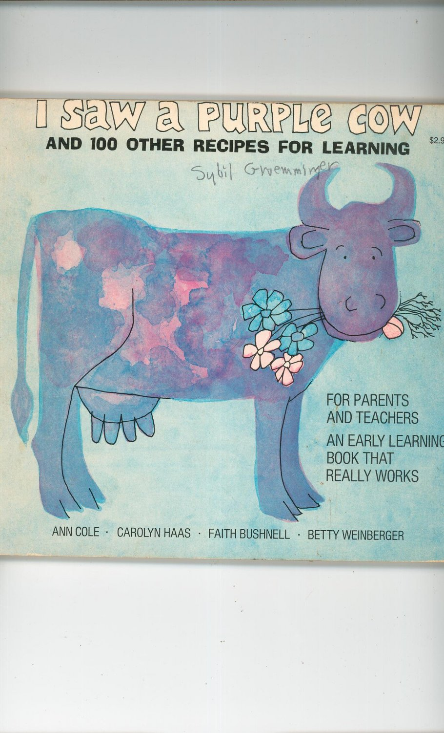 Vintage I Saw A Purple Cow Early Learning Book Cole Haas Bushnell Weinberger 0316151750