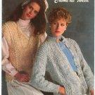 Bernat Book Number 563 Creme De Tweed Knit 1985
