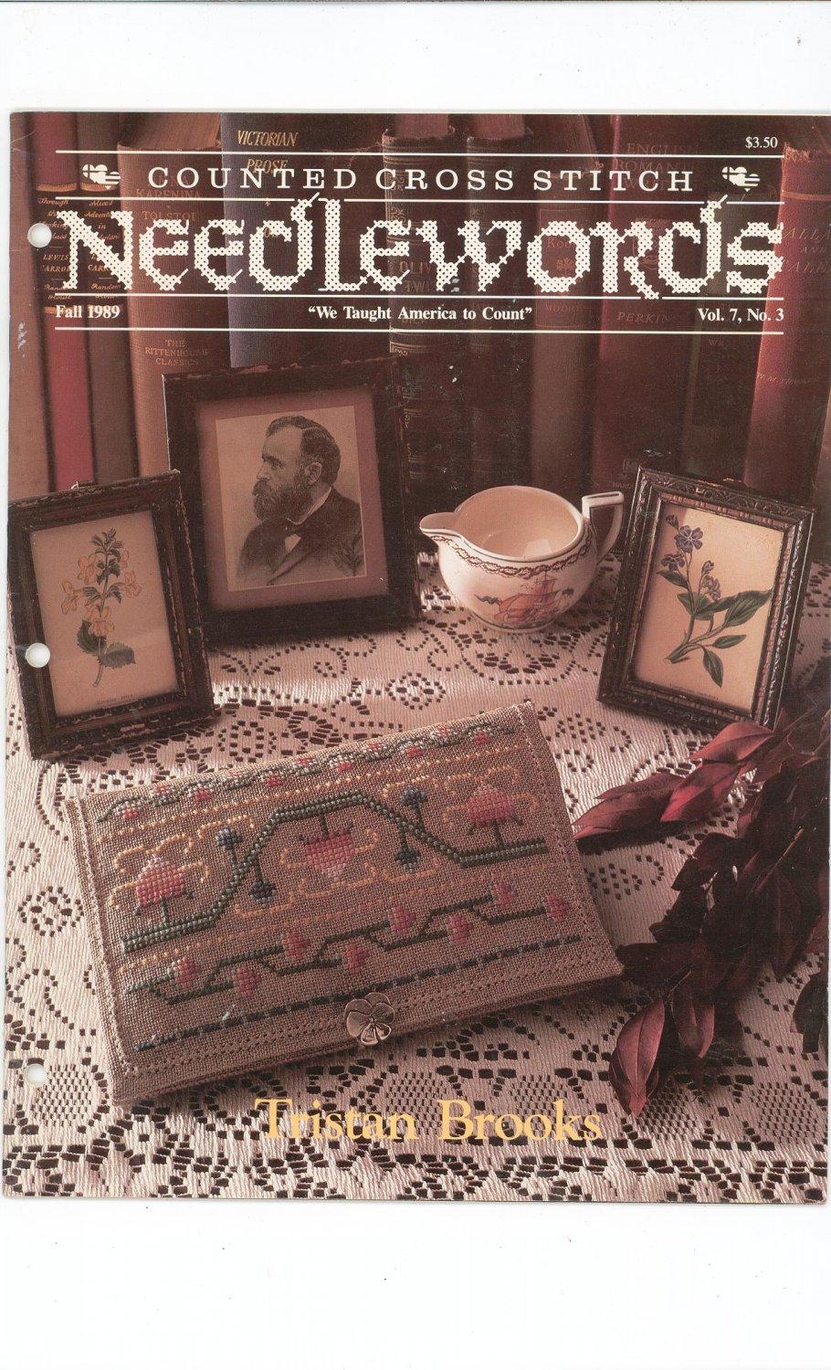 Needlewords Counted Cross Stitch Fall 1989 Vol. 7 No. 3  Tristan Books