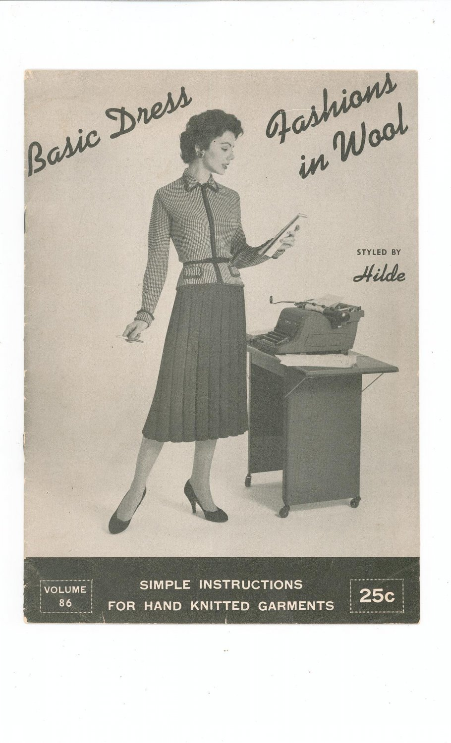 Vintage Basic Dress Fashions In Wool Styled by Hilde Knit Volume 86  1958