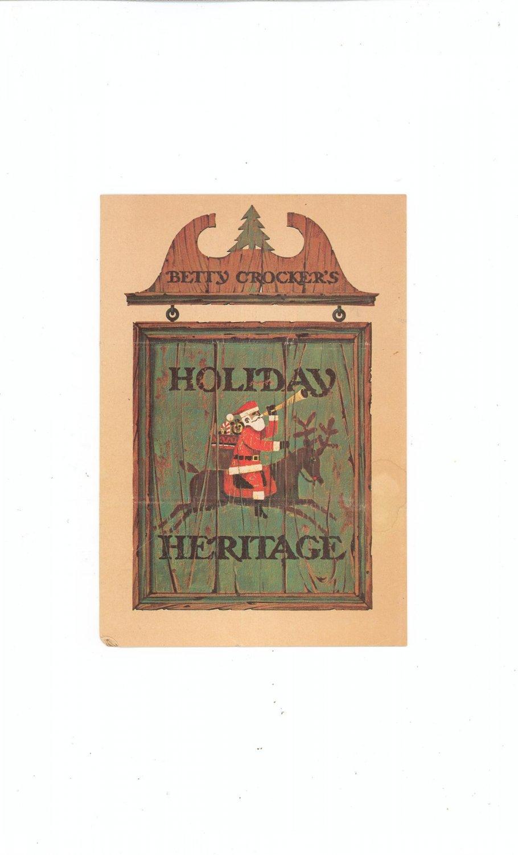 Vintage Betty Crocker's Holiday Heritage Cookbook / Brochure 1966