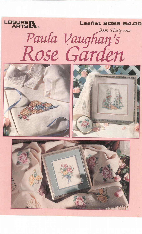 Paula Vaughan's Rose Garden Leisure Arts 2025 Cross Stitch