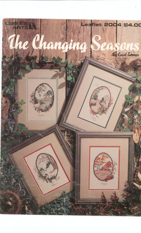 The Changing Seasons Carol Emmer 1990 Leisure Arts 2004 Cross Stitch