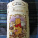 Awesome Disney Winnie The Pooh Mustard Spice Jar Lenox 1995 Collection