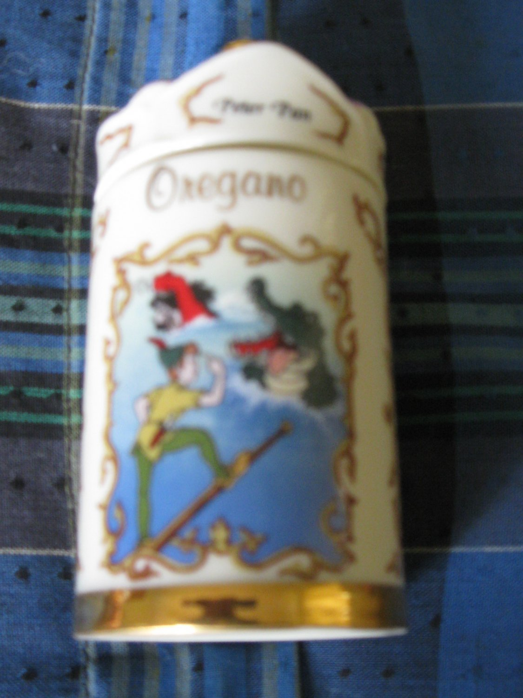 Awesome Disney Peter Pan Oregano Spice Jar Lenox 1995 Collection