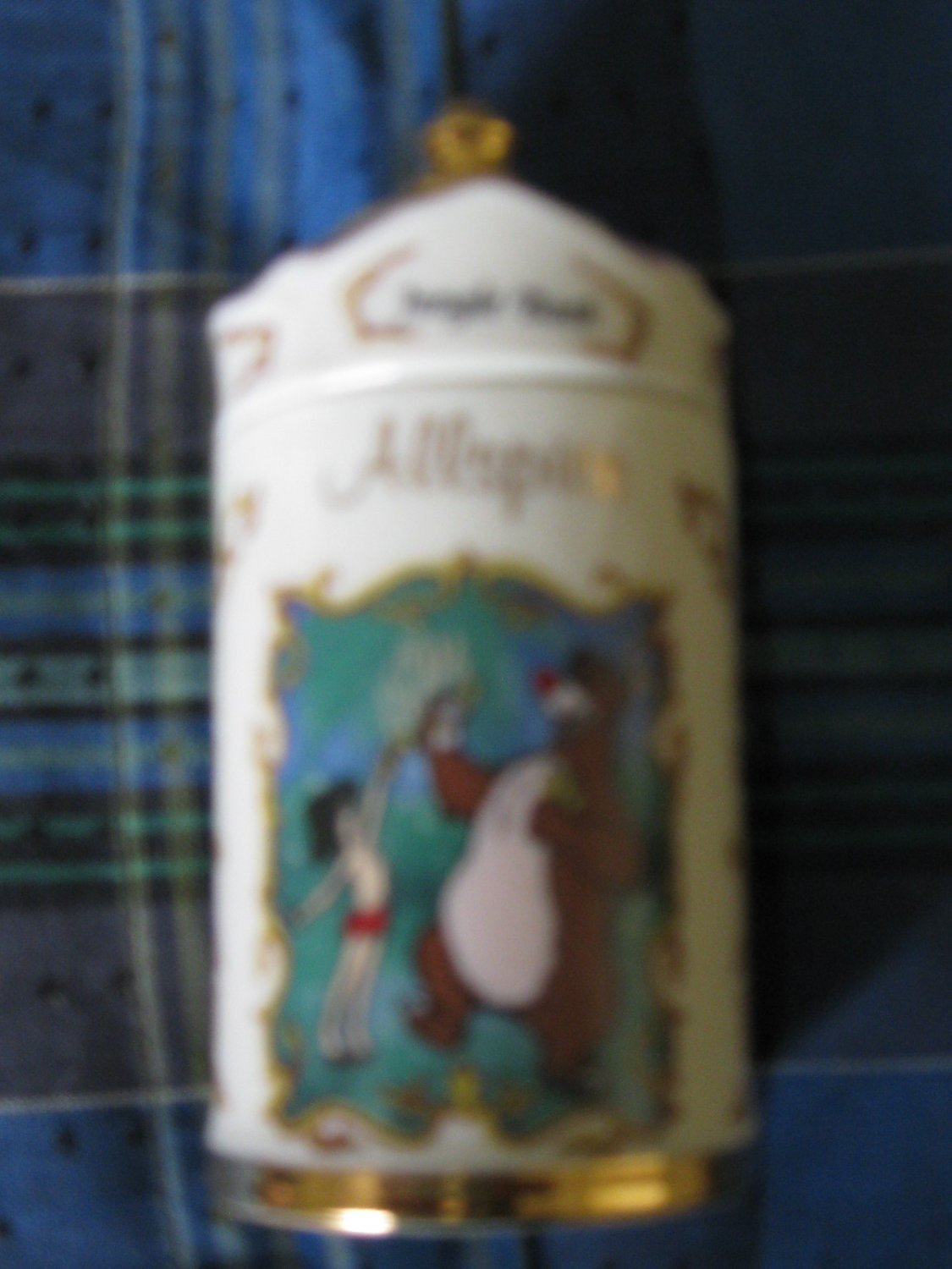 Awesome Disney Jungle Book Allspice Spice Jar Lenox 1995 Collection