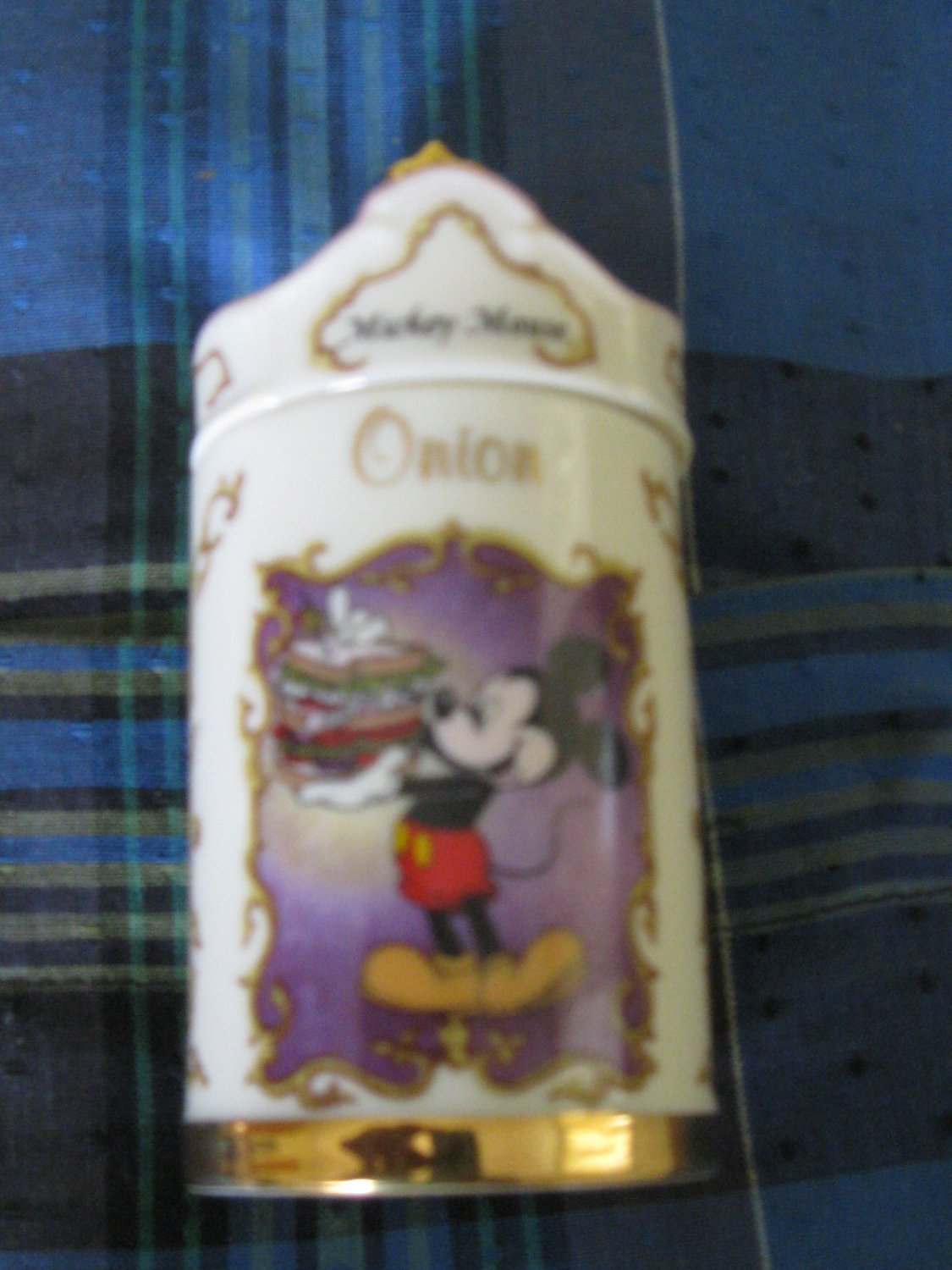 Awesome Disney Mickey Mouse Onion Spice Jar Lenox 1995 Collection