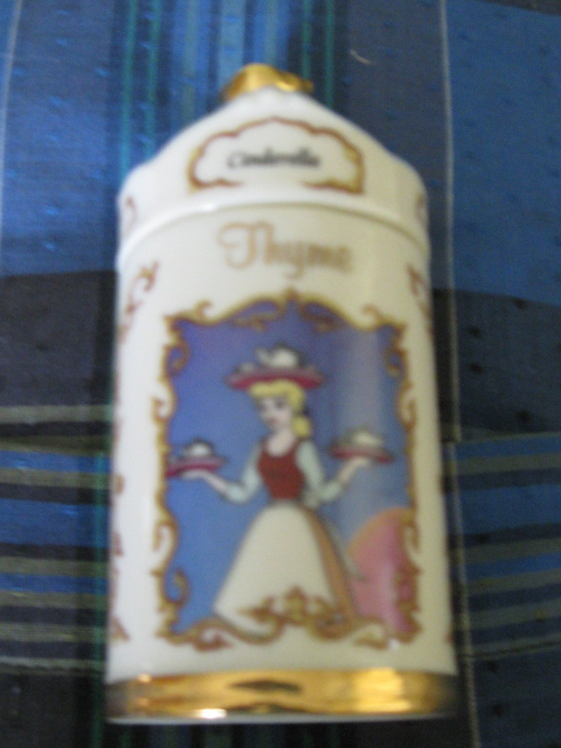 Awesome Disney Cinderella Thyme Spice Jar Lenox 1995 Collection