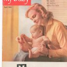 My Baby Magazine April 1959 Lots Of Advertisements Given  by Mc Curdy's Maternity Shop NY