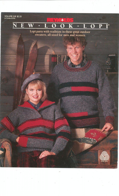 Reynolds New Look Lopi Volume 218 Sweaters Men & Women Knitting