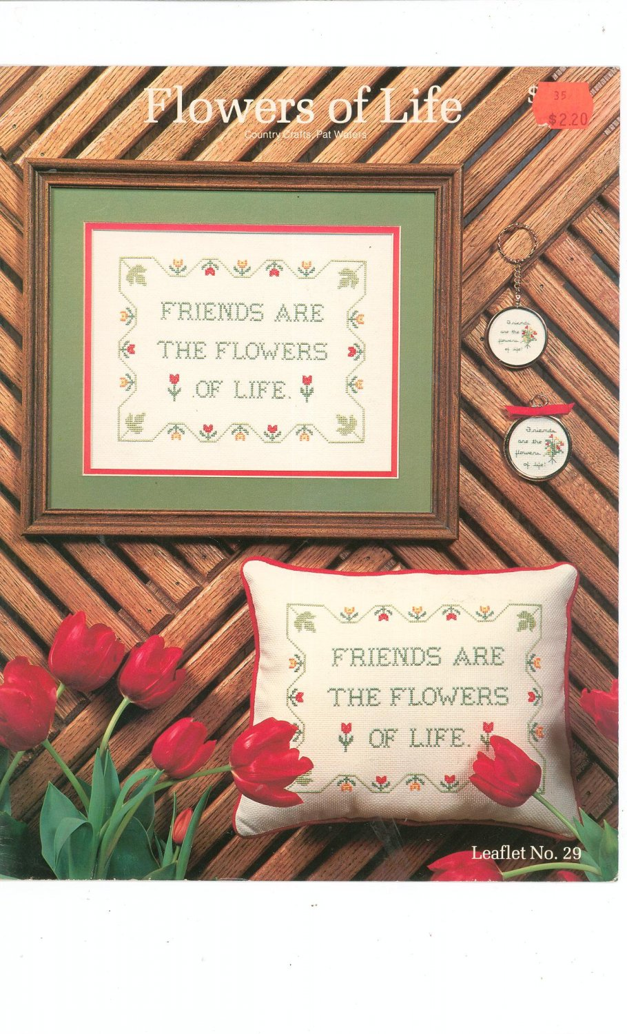 Flowers Of Life Country Crafts Leaflet Number 29 Pat Waters Cross Stitch