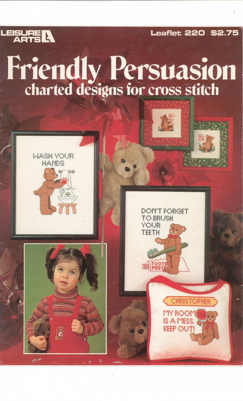 Friendly Persuasion Bears Cross Stitch Leisure Arts 220