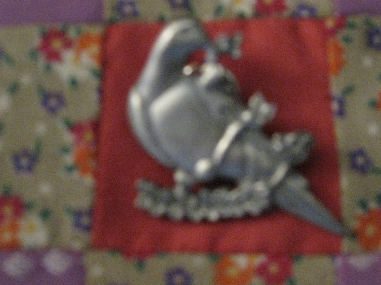 Adorable Dove On Branch Pin / Brooch