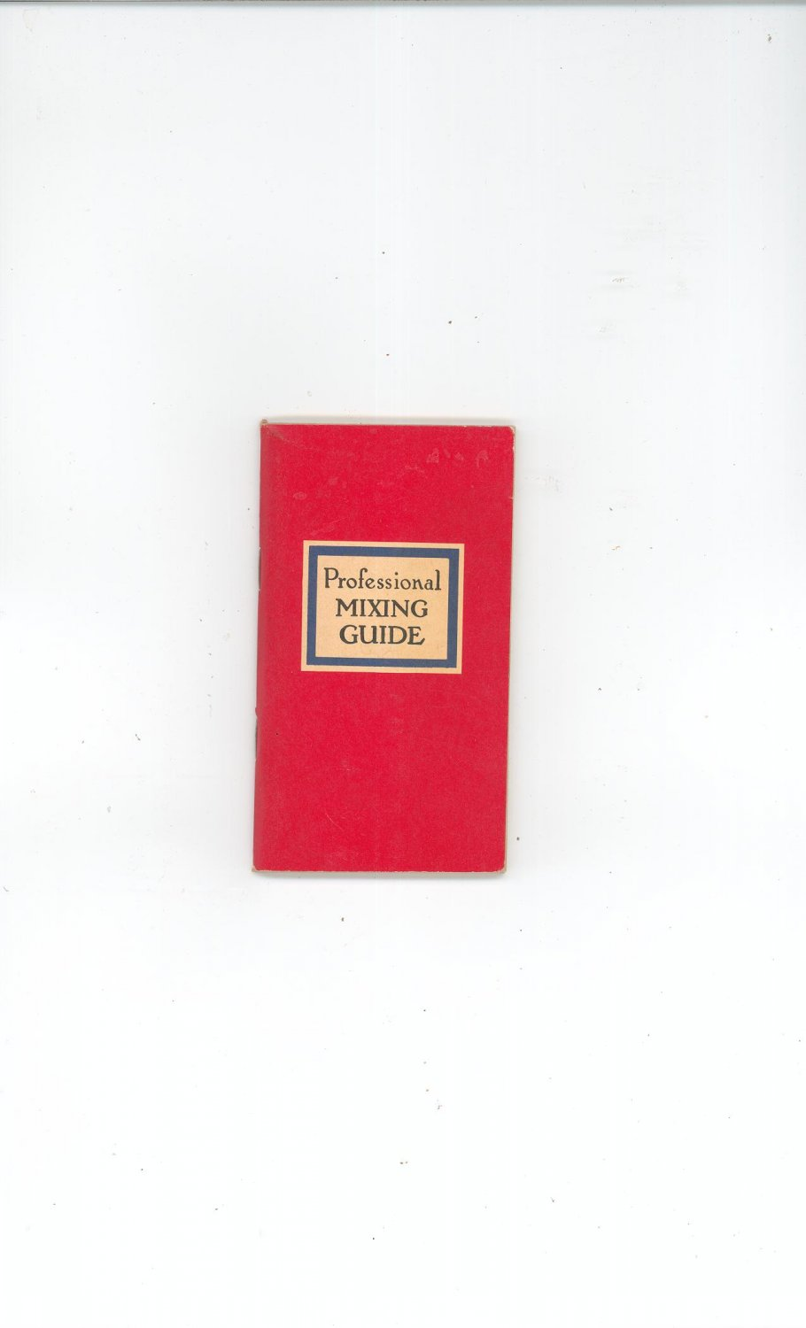 Very Nice Vintage Mini Professional Mixing Guide by The Angostura Wuppermann Corp. 1964