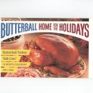 Butterball Home For The Holidays Calendar With Recipes Cookbook 1991 1992