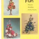Vintage Chenille Fun Craft Book H 170 30 12028 1964 1968 Flowers Novelties Favors