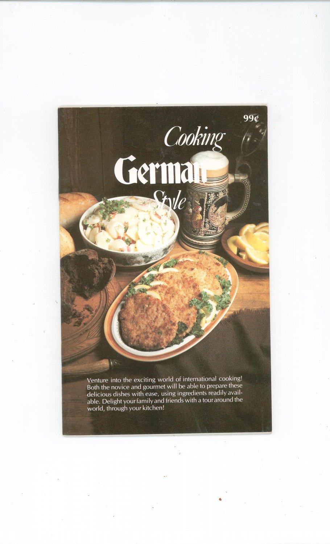 Cooking German Style Cookbook Vintage 1979