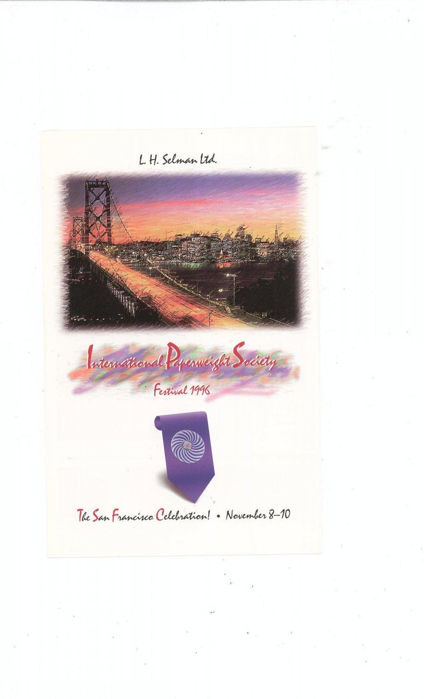 International Paperweight Society Festival 1996 Registration Form by L. H. Selman Ltd.
