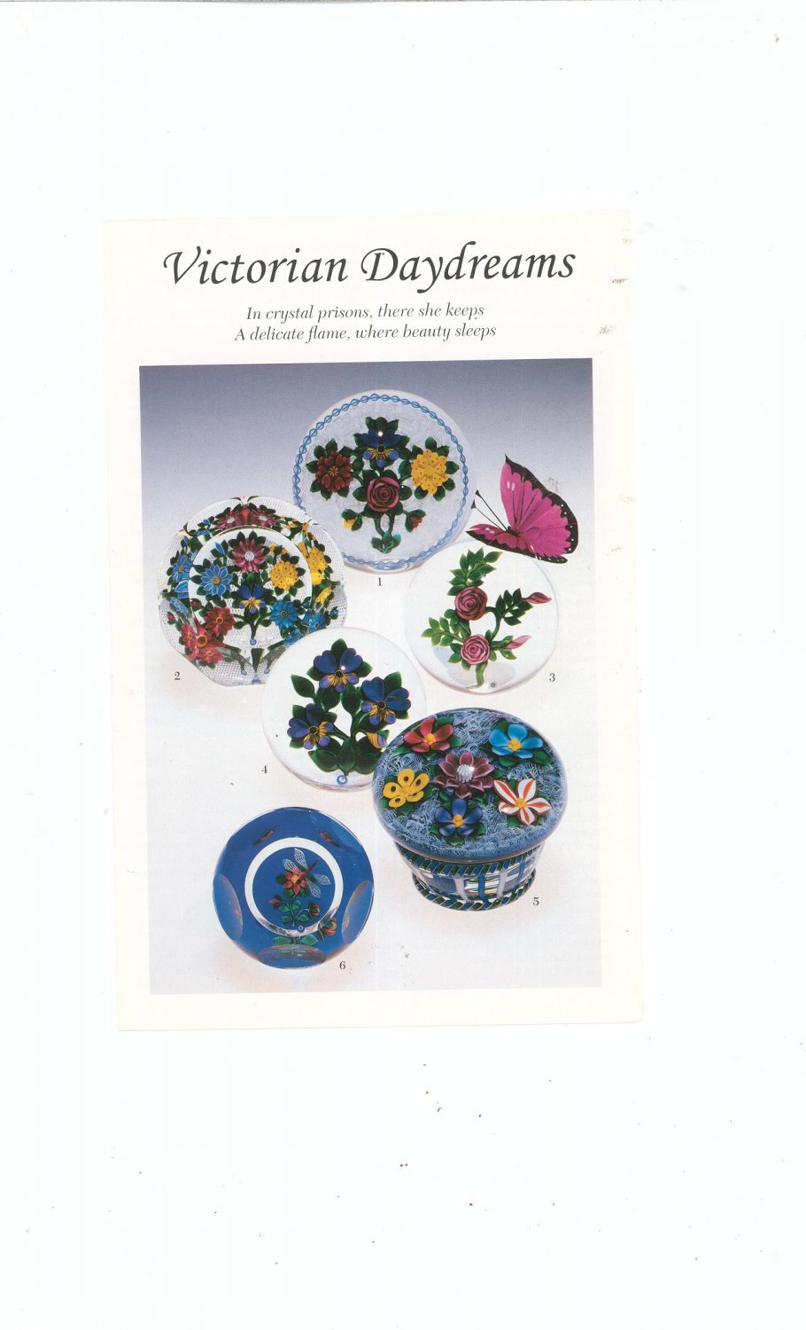 Victorian Daydreams Catalog / Brochure by L. H. Selman Ltd. Paperweights