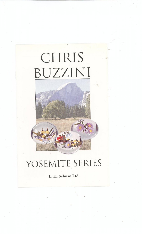 Chris Buzzini Yosemite Series Catalog / Brochure by L. H. Selman Ltd. Paperweights