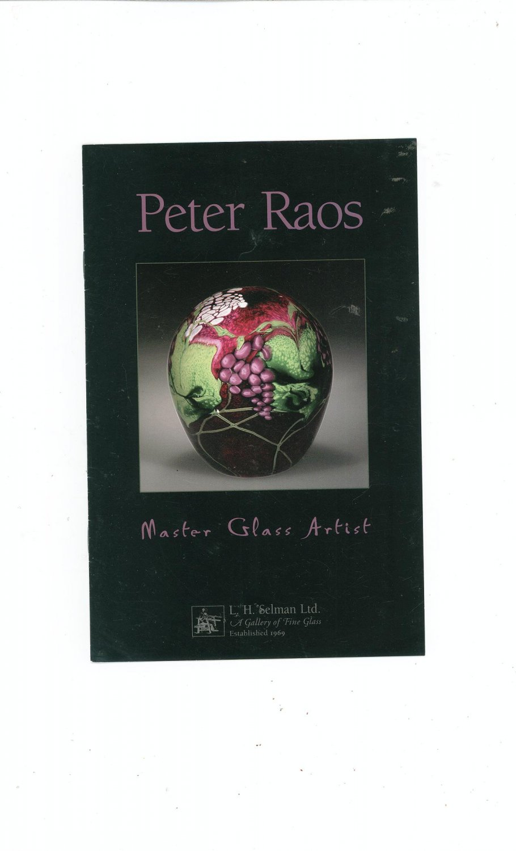 Peter Raos Master Glass Artist Catalog / Brochure by L. H. Selman Ltd. Paperweights