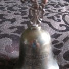 International Silver Christmas 1993 Bell Ornament With Candy Canes Handle