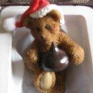 Adorable Hershey's Kiss Christmas Ornament With Original Box Bear Holding Hersheys Kiss