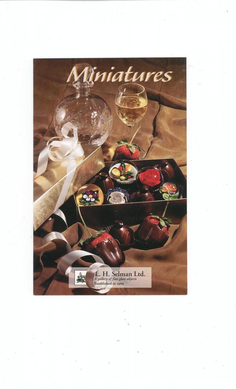 Minatures Catalog / Brochure by L. H. Selman Ltd. Paperweights