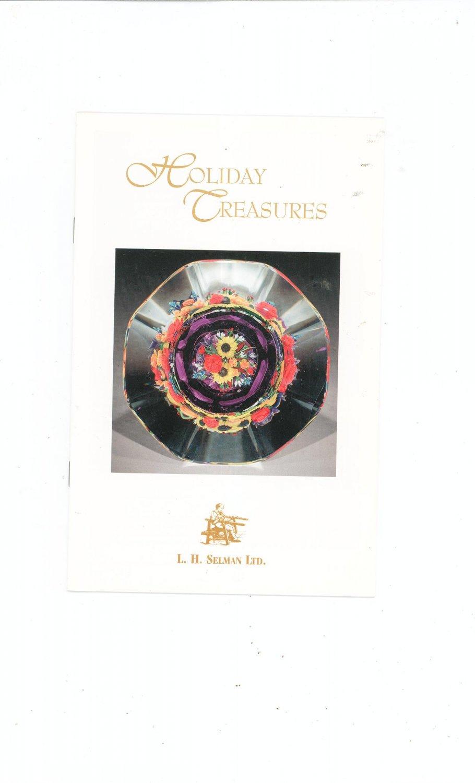 Holiday Treasures Catalog / Brochure by L. H. Selman Ltd. Paperweights Plus