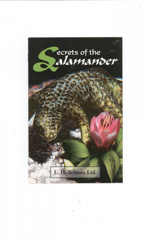 Secrets Of The Salamander Catalog / Brochure by L. H. Selman Ltd. Paperweights