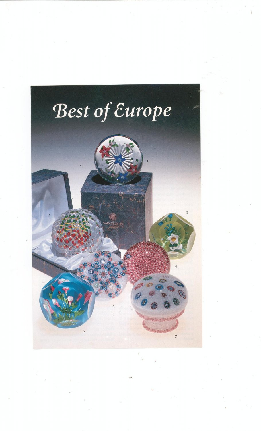 Best Of Europe Catalog / Brochure by L. H. Selman Ltd. Paperweights