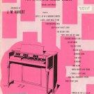 Sigmund Romberg Album For Hammond Chord Organ Vintage J. M. Hanert