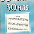30 Years 30 Hits Number 2 Vintage Words & Music Complete