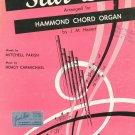 Vintage Star Dust Hoagy Carmichael Mitchell Parish Hammond Chord Organ Sheet Music 1959