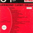 Vintage 34 More Hit Parade Extras Hammond Chord Organ Music Book Elmer A. Ihrke 1960