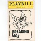 Playbill Breaking Legs Promenade Theatre With Ticket Stub Play Bill Souvenir