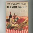 Vintage 365 Ways To Cook Hamburger Cookbook Doyne Nickerson 1960