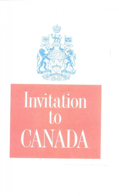 Vintage Invitation To Canada Travel Guide Pre 1967 Souvenir
