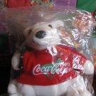 Coca Cola Bean Bag Plush Bear Red Sweater Sealed In Original Bag  With Tag