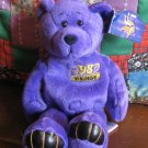 Minnesota Vikings NFL Edition Moss 84 Bear Plush Beanie With Hang Tag