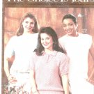 The Choice Is Yours Book 1 By Carole Prior Sweater Knitting Leisure Arts Leaflet 738